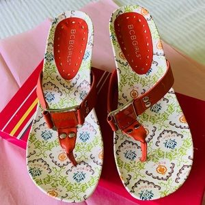 New in the box floral sandals 6m
